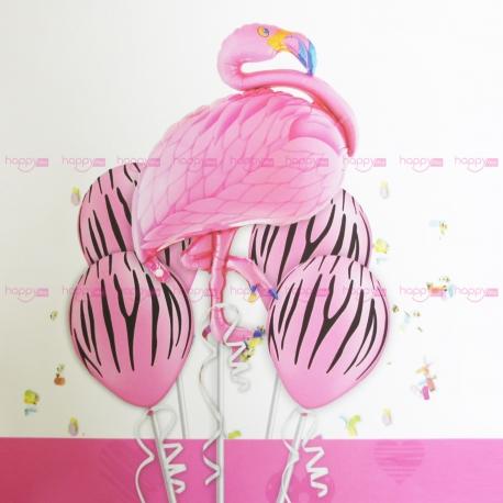 5 Ballons gonflables flamant Décoration Anniversaire Flamant rose