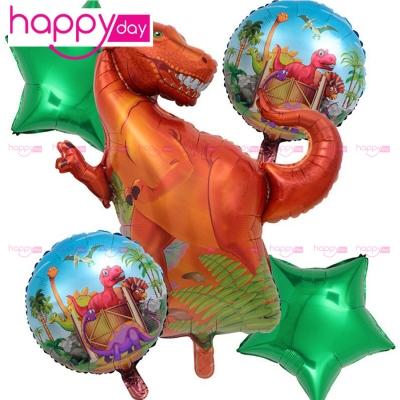 5 Ballons thème dinosaure