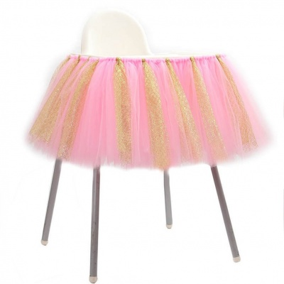 Jupe de table tulle rose et...