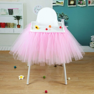 Jupe de table tulle rose