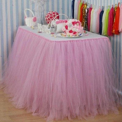 jupe de table en tulle -...