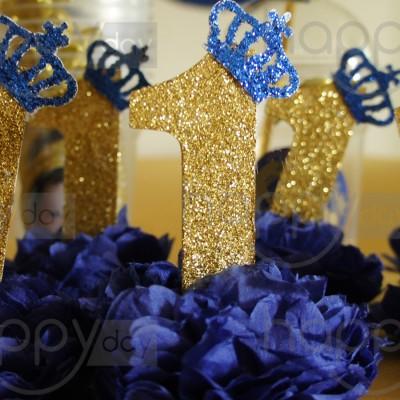 10 Pompons - Prince - Bleu Roi