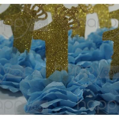 10 Pompons - Prince - Bleu...