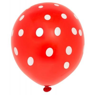 10 Ballons Rouge pointillé,...