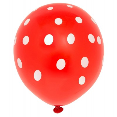 10 Ballons Rouge pointillé