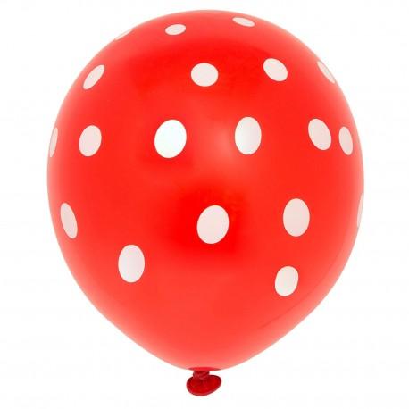 10 Ballons Rouge pointillé, Décoration Anniversaire En Tunisie