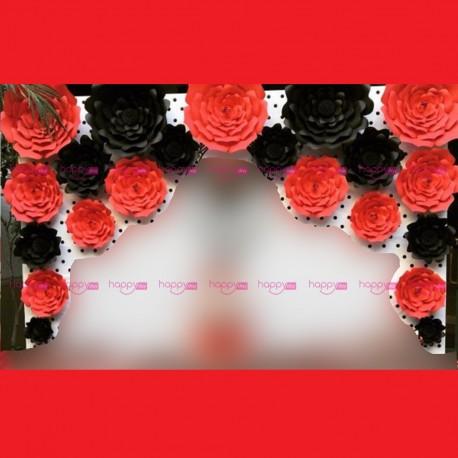 Fleurs Décoration Murale 1 Minnie Rouge