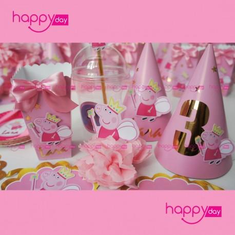 Kit d'anniversaire personnalisée 10 personnes , Thème - Peppa Pig