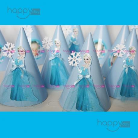 Chapeaux, Thème Reine des neiges, Elsa, décoration anniversaire en Tunisie