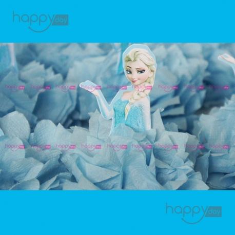Pompons, Thème Reine des neiges, Elsa, décoration anniversaire en Tunisie