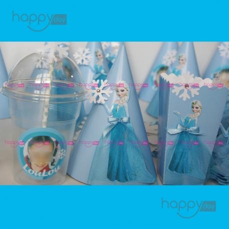 Kit Anniversaire (10 Personnes), Thème Reine des neiges, Elsa, décoration anniversaire en Tunisie