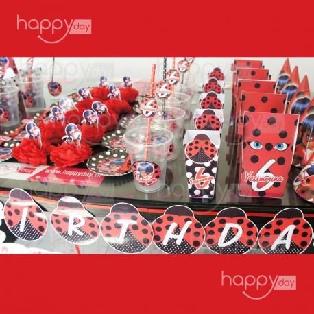 Kit Anniversaire (10 Personnes), Thème Miraculous Ladybug, décoration anniversaire en Tunisie