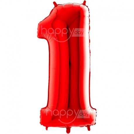 Ballon Chiffre Gonflable rouge, décoration anniversaire en Tunisie