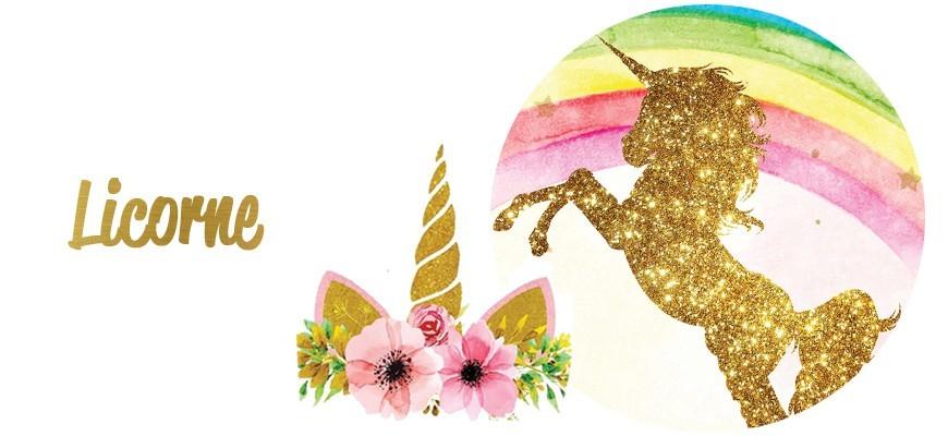 décoration d'anniversaire Thème Licorne