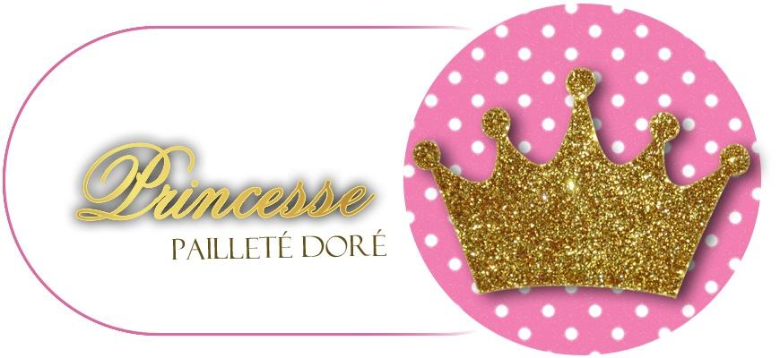 Princesse pailleté doré
